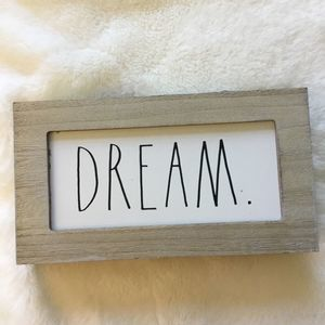 "Rae Dunn White ""DREAM"" Wooden Sign"